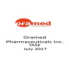 Oramed Pharmaceuticals was listed for dual trading on the Tel Aviv Stock Exchange