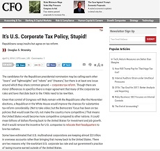It's U.S. Corporate Tax Policy, Stupid