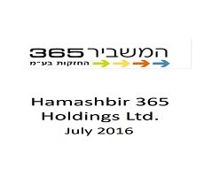 "Our firm represented ""HaMashbir 365 Holdings Ltd."" in a sale of it's control of Aviation Links Ltd."
