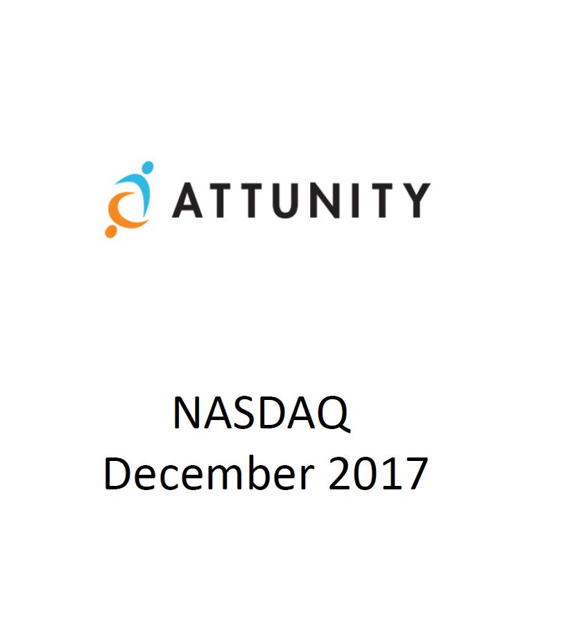 The firm's Capital Market department assisted Attunity in raising $20 million on the  Nasdaq