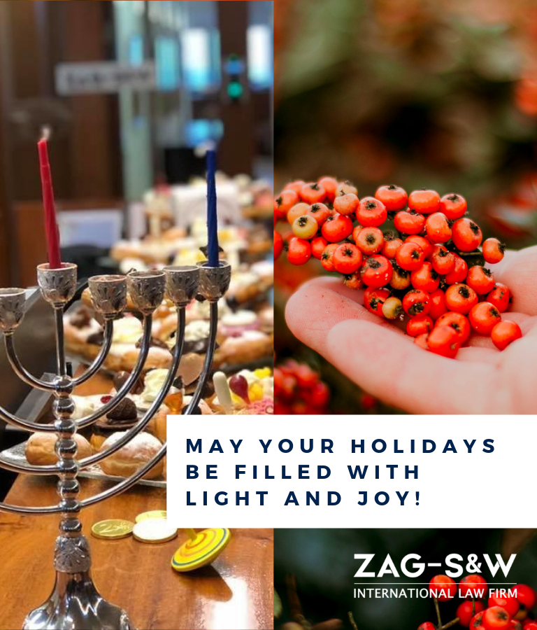 Happy Hanukkah and Holidays from ZAG-S&W